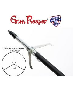 "Grim Reaper Razortip Whitetail Special Mechanical Broadhead 100GR 2"" 3-Blade 3Pk | 1924"