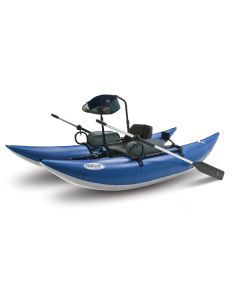Outcast Sporting Gear 10-IR Stand Up Inflatable Pontoon Boat Blue