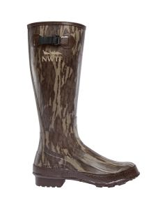 """Lacrosse Grange Rubber Boots Mossy Oak Bottomland NWTF 18"""" Non-Insulated"""