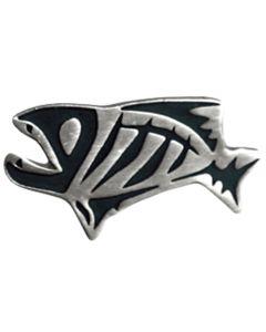 G. Loomis Antique Gray Skeleton Fish Lapel Pin