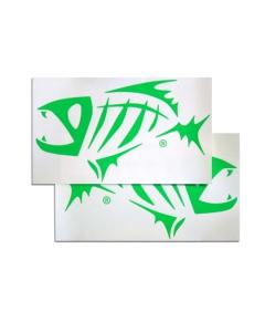 G. Loomis Green Skeleton Fish Boat Decal Set