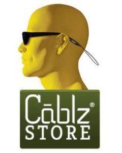 "CABLZ FISHING SUNGLASSES LANYARD Clear 12"" Length"