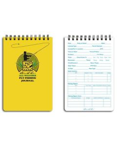 "RITE IN THE RAIN 4""X6"" 50 pg FLY FISHING NOTEBOOK 1732"