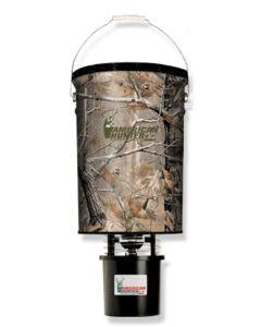 American Hunter Game Feeder 50# Hanging Feeder/Camo Bucket