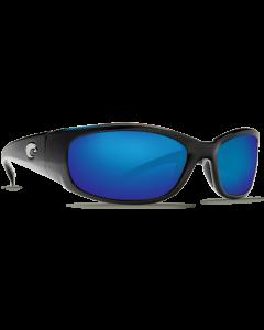 Costa Del Mar Hammerhead Blue Mirror 580P Shiny Black Frame