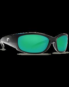 Costa Del Mar Hammerhead Green Mirror 580P Shiny Black Frame