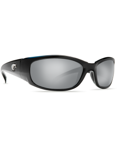 Costa Del Mar Hammerhead Silver Mirror Glass- W580 Shiny Black Frame
