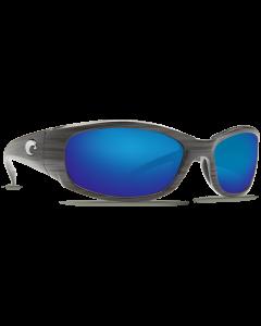 Costa Del Mar Hammerhead Blue Mirror Glass Silver Teak Frame