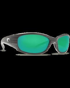 Costa Del Mar Hammerhead Green Mirror Glass - W580 Silver Teak Frame