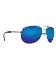 Costa Del Mar Wingman Blue Mirror 580P Palladium Silver Frame