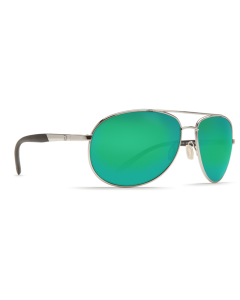 Costa Del Mar Wingman Green Mirror 580P Palladium Silver Frame