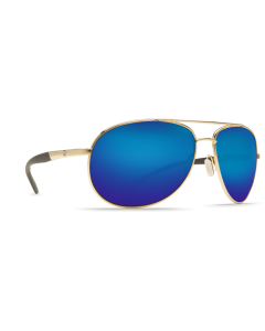 Costa Del Mar Wingman Blue Mirror Glass - W580 Gold Frame