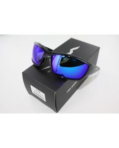 Wiley X Polarized Sunglasses Tide Blue Mirror / Gloss Black Frame- CCTID09