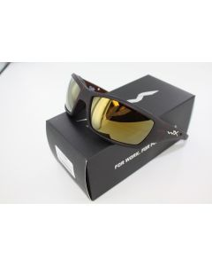 Wiley X Polarized Sunglasses Tide Venice Gold Mirror / Matte HIckory Brown Frame- CCTID04