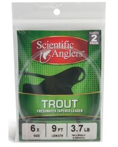 """Scientific Angler Premium Freshwater Leaders - 12'0"""" Trout With Loop 2 Pack 12 ft - 6X - Clear"""