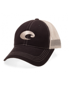 Costa Del Mar Mesh Hat - Black/Stone - HA 04BL