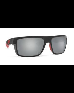 Costa Del Mar Motu Race Black Sunglasses with Gray Silver Mirror 580G Lens | MTU 197 OSGGLP