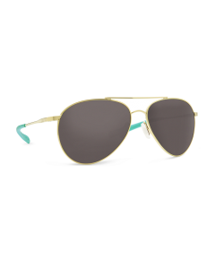Costa Del Mar Piper Shiny Gold Sunglasses with Gray 580G Lens | PIP 126 OGGLP