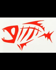 """G. Loomis Skeleton Fish 7"""" Red Window/Boat Decal"""