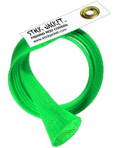 Stick Jacket Casting Fishing Rod Cover XL Neon Green