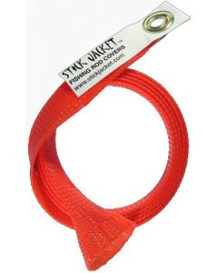 Stick Jacket Spinning Fishing Rod Cover Red