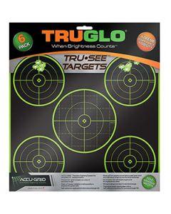 Truglo Tru-See Targets 5 Bull 12X12 6pk