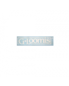 "G. Loomis White Block Logo Boat Decal 21"" X 4"""