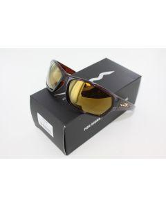 Wiley X Polarized Sunglasses Legend Venice Gold Mirror / Gloss HIckory Brown Frame SSLEG04