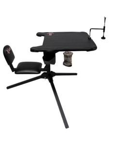 X-Stand XASB34 X-Ecutor 360 Swivel Shooting Bench with Backrest - Black