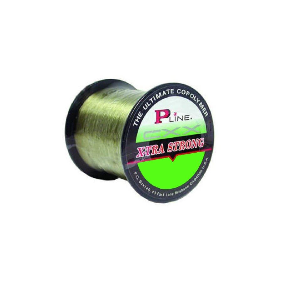 P-Line CXX X-Tra Strong Moss Green Copolymer Fishing Line 300 yd Select Lb Test
