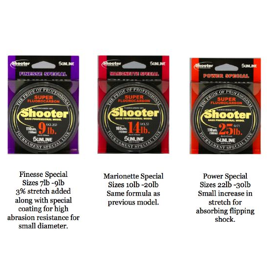 Sunline Shooter Bass Professional Invisible Fluorocarbon Line  75-100m